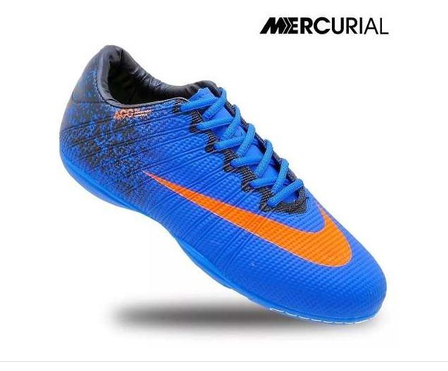 Chuteira Infantil Futsal Mercurial Cr7 Azul - R  59 3b65bb6c056b8