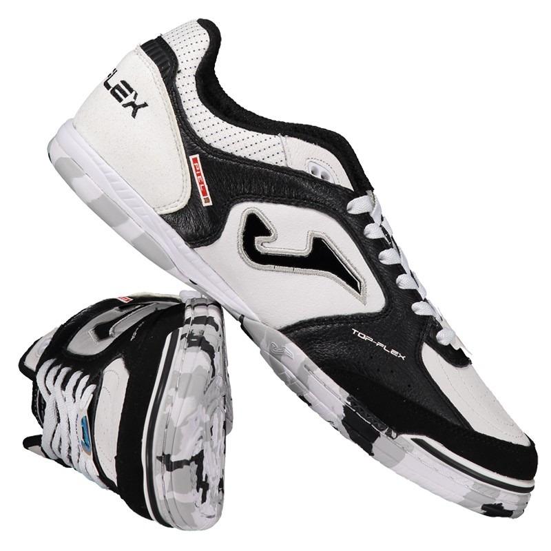 394dbe4cb3 chuteira joma top flex futsal branca e preta. Carregando zoom.