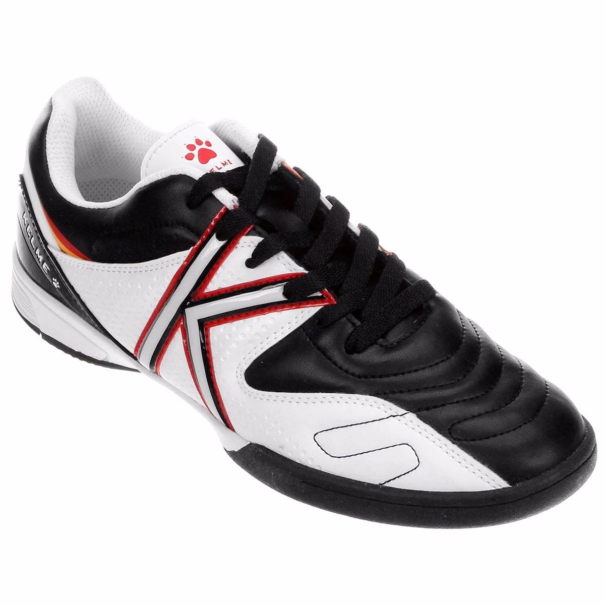 d5fa7db0e930b Chuteira Kelme Futsal Original Infantil Preto branco + Nf - R  129 ...