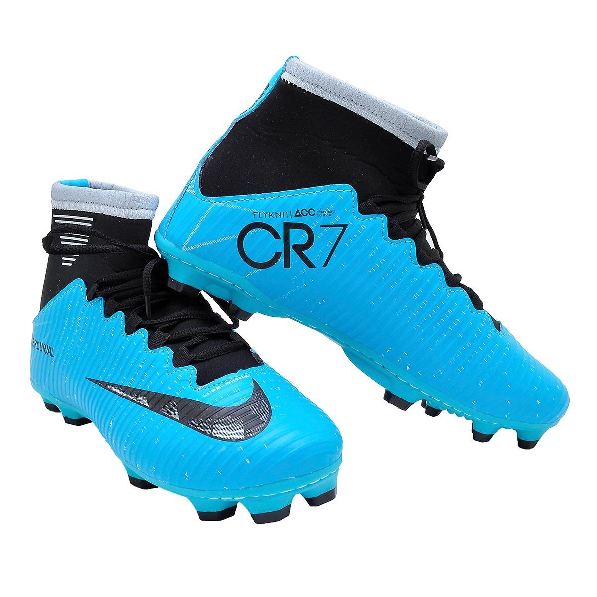79862d2ac2 Chuteira Nike Cristiano Ronaldo Botinha Adulto Campo 2 Pares - R ...
