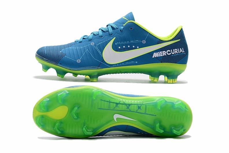 Chuteira Nike Mercurial Vapor Xi Neymar Campo Azul Amarelo - R  289 ... 1af7c39aaf570