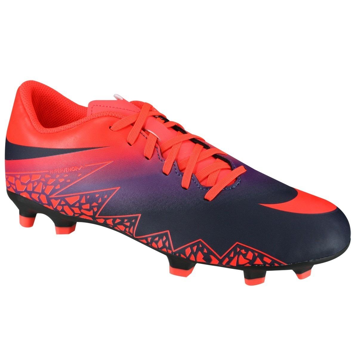 Chuteira Nike Hypervenom Phade 2 Ii Fg Campo Laranja Azul - R  200 ... e5f6c7b5fcd6c
