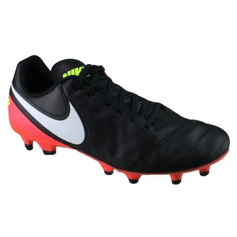 Chuteira Nike Campo Tiempo Genio Ii Leather Fg Pto bco rosa - R  319 ... a31cda77a1dbc