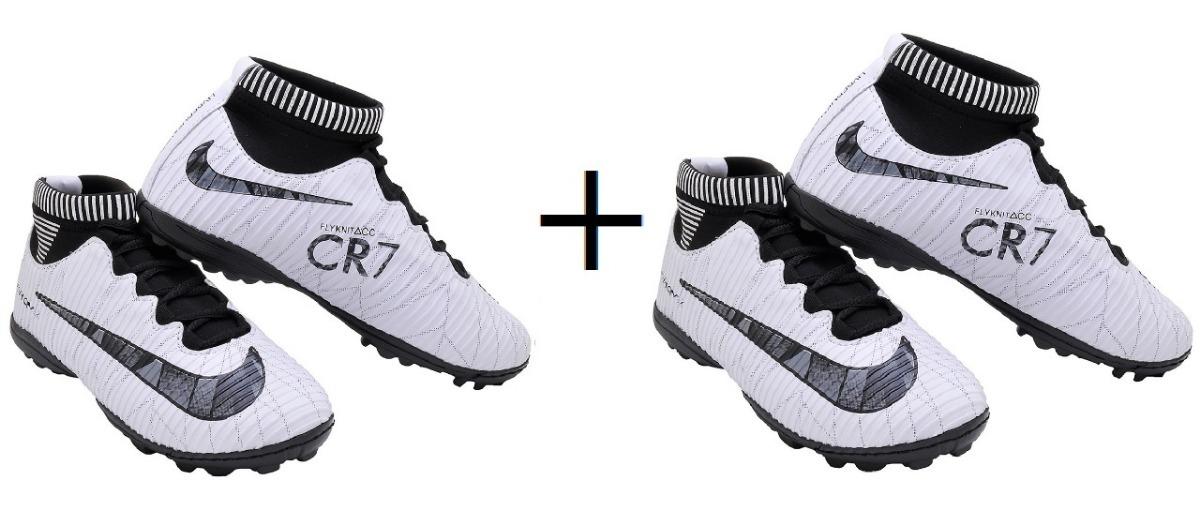 Chuteira Nike Cr7 Society Botinha Infantil + Frete Grátis - R  200 ... 62a17775451ec