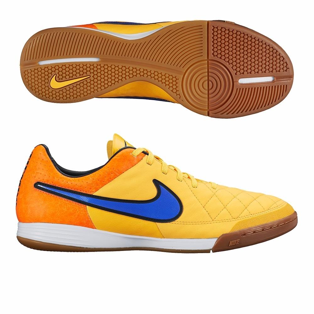 Chuteira Nike Tiempo Legacy Ic Futsal Couro Cinza De 399 182546920b5d5