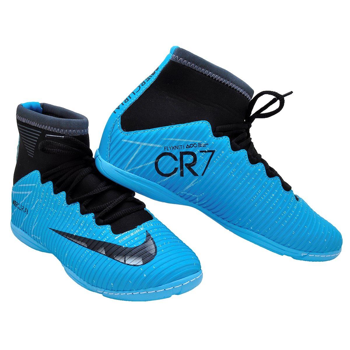 6fa4a9dcb31b6 Chuteira Nike Futsal Botinha Cr7 2 Pares Oferta - R  200