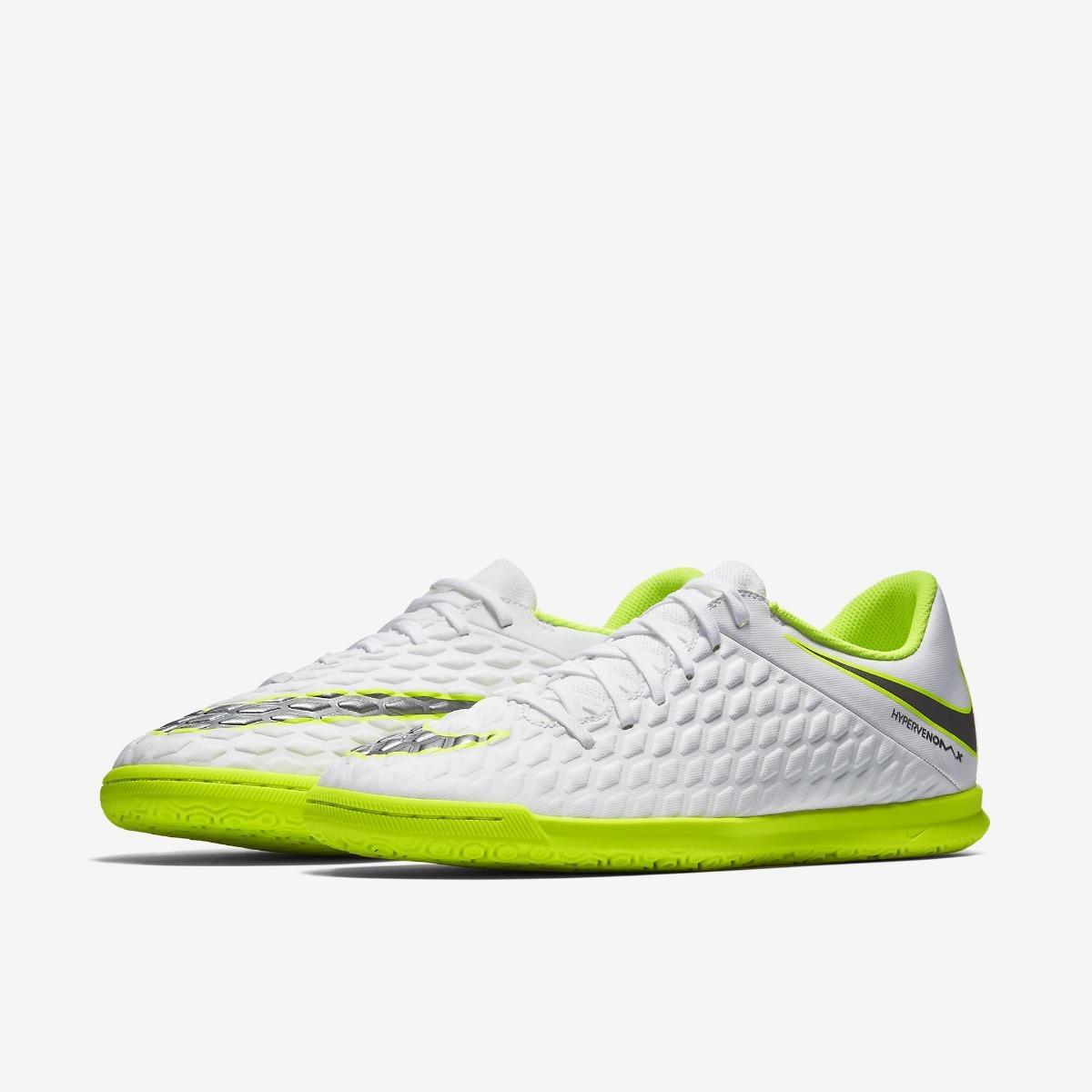 hot sales 8608e ec299 Chuteira Nike Hypervenom Phantom 3 Iii Club Ic Futsal Branca