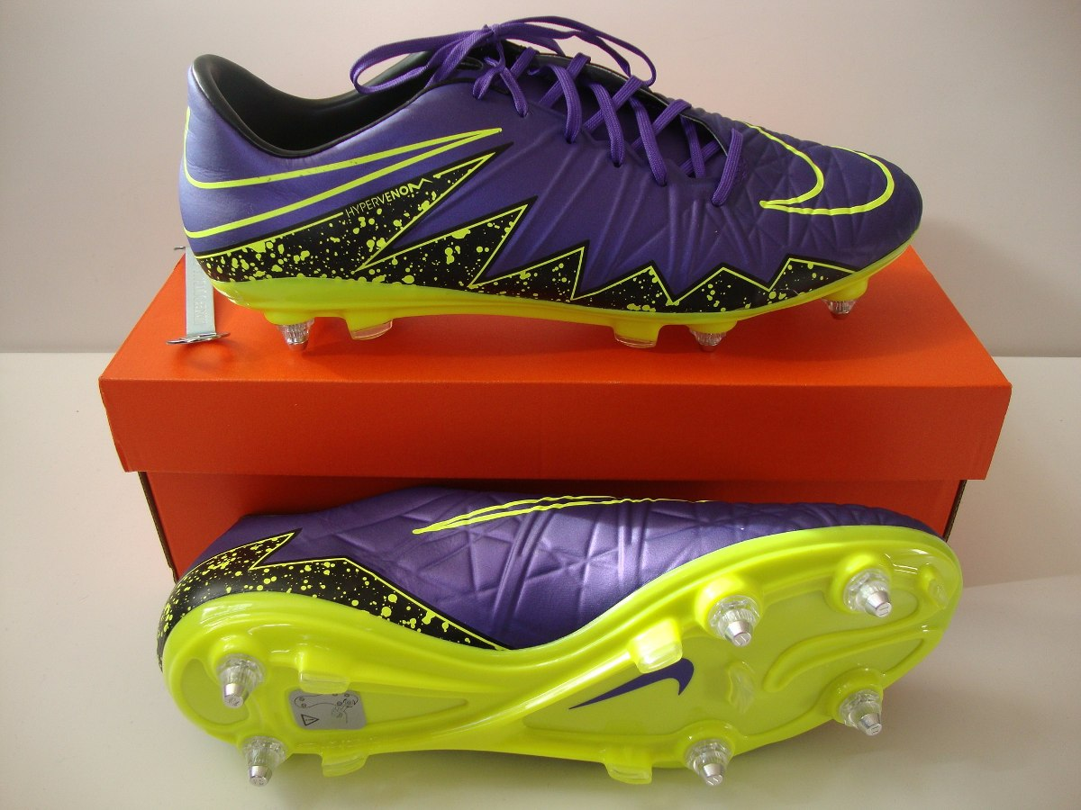 76253a0dfd Chuteira Nike Hypervenom Phatal Sg Trava Mista Neymar Rooney - R ...