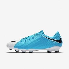 f8b571499dcbb Chuteira Nike Hypervenom.branca E Azul - Chuteiras Nike para Adultos ...