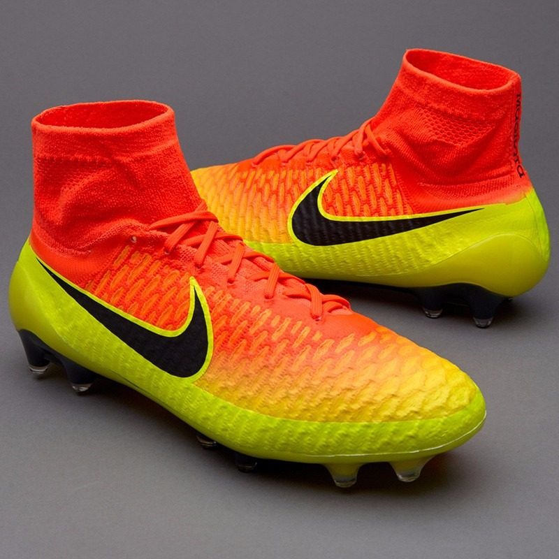 88d394480c1ae 2014 nike magista opus ag soccer boots cleats red yellow  carregando zoom.  ...