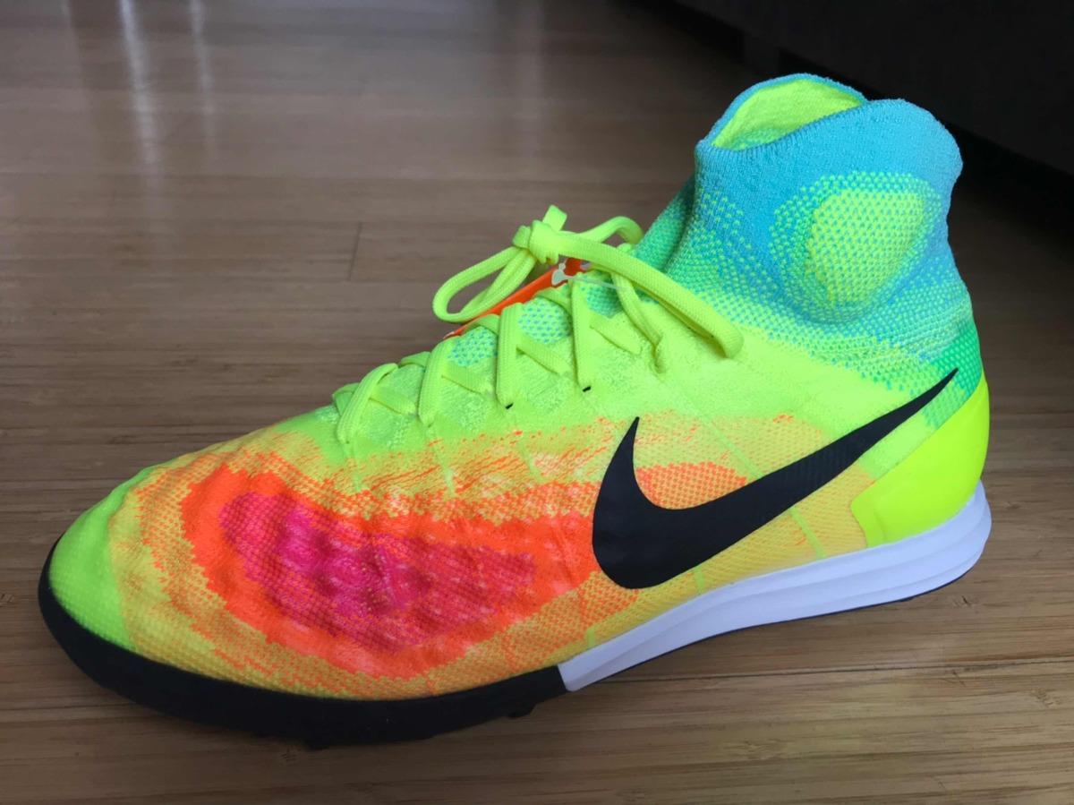 Chuteira Nike Magista X Próximo Ii Tf Society Cano Alto - R  450 2c36a338fbb11