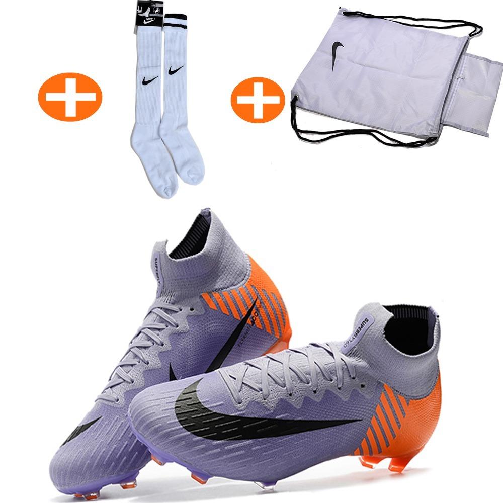 88be8d2a1a Chuteira Nike Mercurial 360 Original +bolsa+meião Forma Fina - R ...