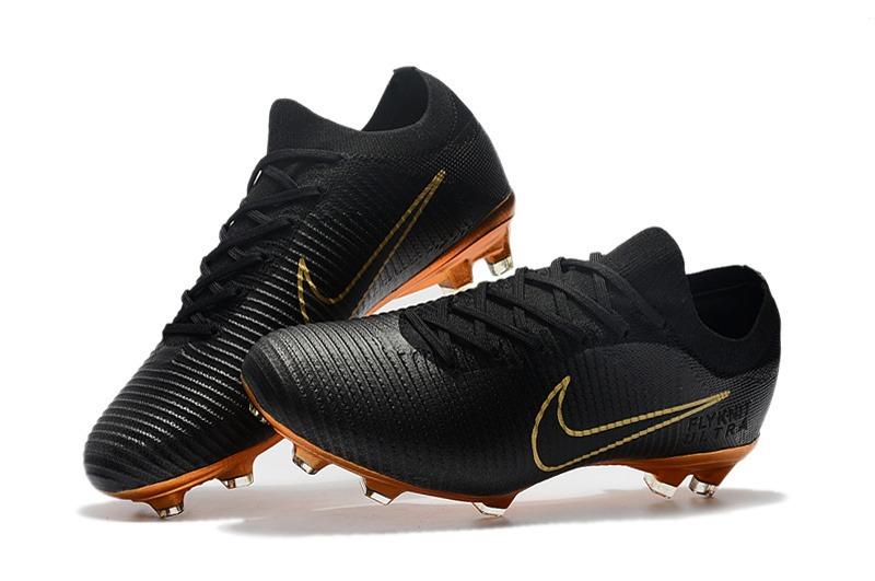 dddca37752 Chuteira Nike Mercurial Flyknit Ultra Black Gold+bolsa+meião - R ...