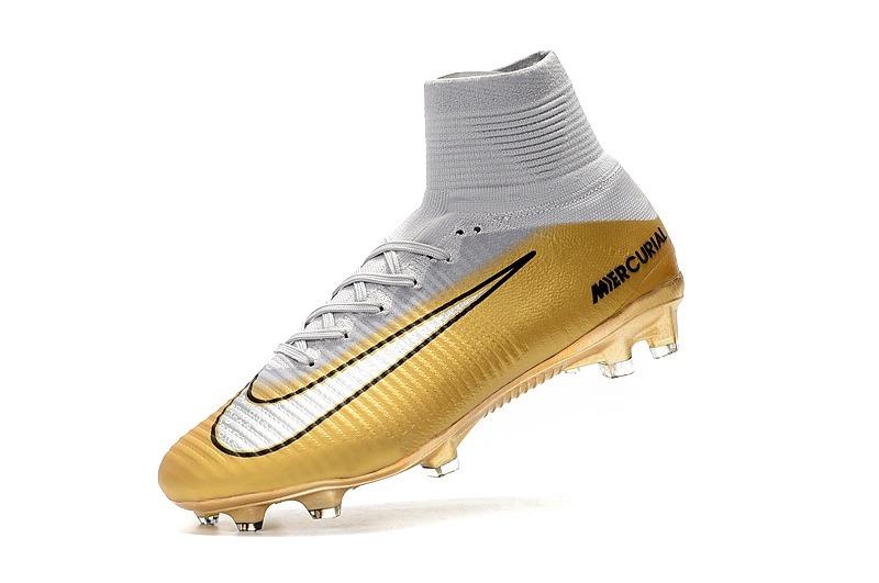 sale retailer c8557 07ea5 Chuteira Nike Mercurial Superfly - Cr7 Gold + Bolsa #37