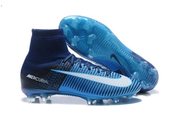 Chuteira Nike Mercurial Superfly Flyknit Fg Azul + Bolsa  3 - R  379 ... 901b6e3c9510a