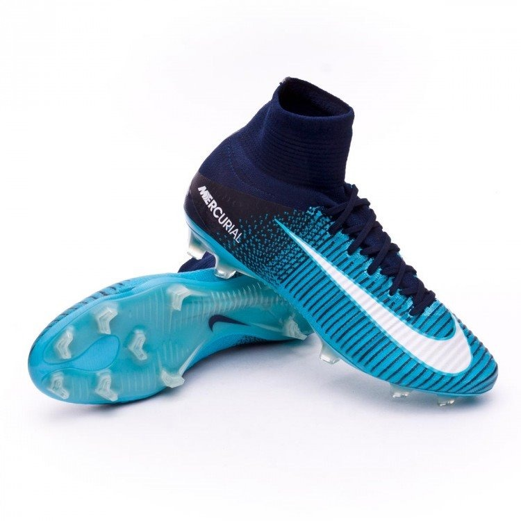 hot sale online a9505 ddc7e ... best price chuteira nike mercurial superfly v acc fg blue ice 86e68  d5722