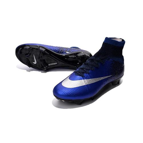 Chuteira Nike Mercurial Superfly V Azul preto - Ronaldo Cr7 - R  518 ... d5fc6145f389f