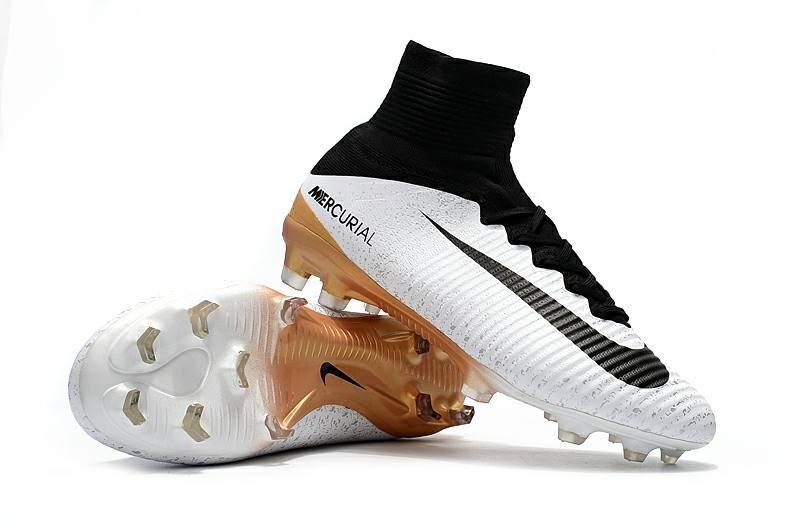 Chuteira Nike Mercurial Superfly V Fg (cano Alto botinha) - R  329 ... 238bad8172e48