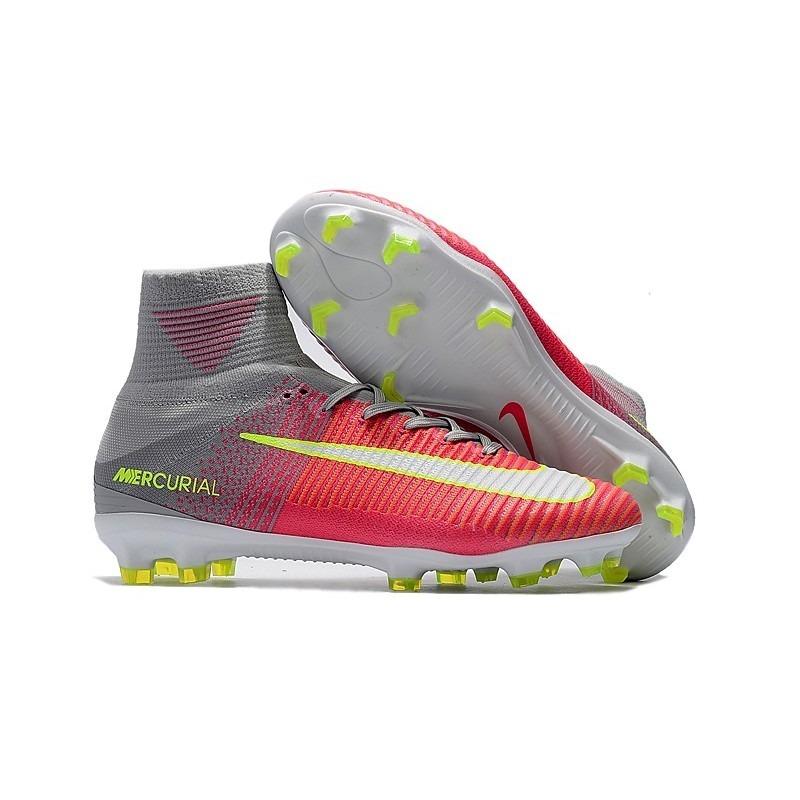 c9ad0388bd Chuteira Nike Mercurial Superfly V Laranja cinza neon Suarez - R  459