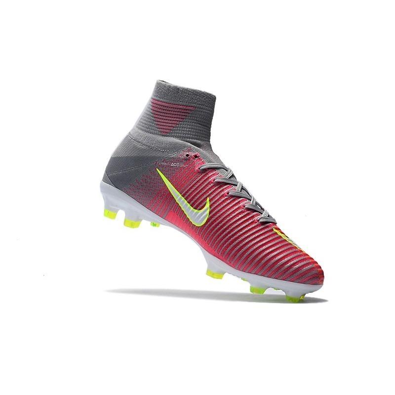 ac673c0194 Chuteira Nike Mercurial Superfly V Laranja cinza neon Suarez - R ...
