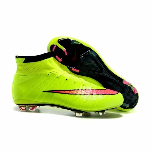 7cb531bfe6caa Chuteira Nike Mercurial Superfly Verde Limão - R  499