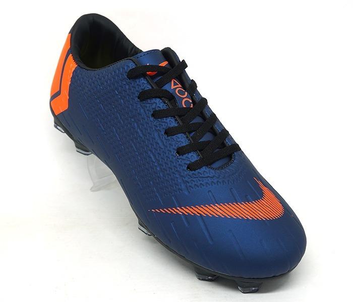 19767bed55 Chuteira Nike Mercurial Vapor 12 Club Campo Marinho E Laranj - R ...
