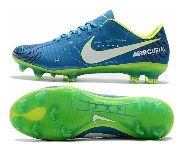 pretty nice 7344a 65cd4 Chuteira Nike Mercurial Vapor Xi Neymar Campo Azul Amarelo