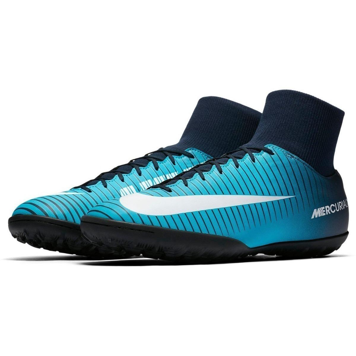 Chuteira Nike Mercurial Victory 6 Vi Df Tf Society Botinha - R  299 ... b9a606c13f6f0