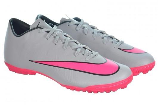 3c41e3285dc9c Chuteira Nike Mercurial Victory V Tf Cinza rosa - 651646-060 - R ...
