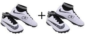 aa54b21c80138 Chuteira Nike Mercurial Branca/preta/rosa Nº37 - Chuteiras no ...