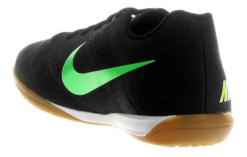 chuteira nike salão futsal beco 2 preto verde original tenis nfe