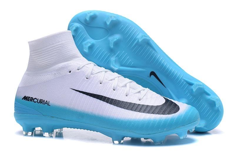674560759c Chuteira Nike Superfly Fg V Flyknit Azul branco + Bolsa  11 - R  389 ...