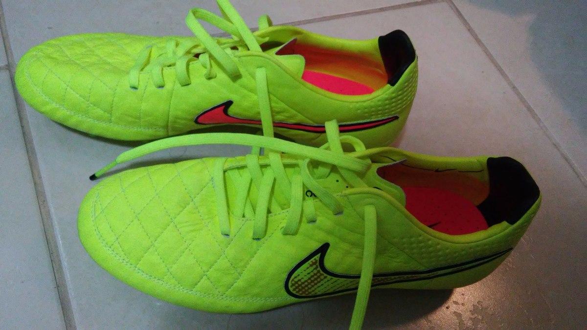 Chuteira Nike Tiempo Legend V Fg Couro De Cangurú Tam 40 f8b17cd7f64eb