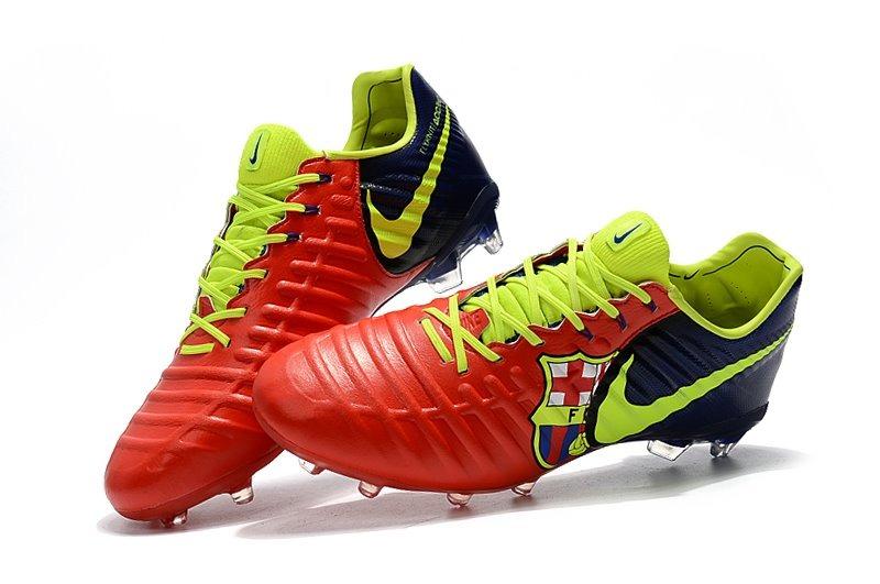 Chuteira Nike Tiempo Legend Vll Red+indian Original Em Couro - R ... 950b2bd057010