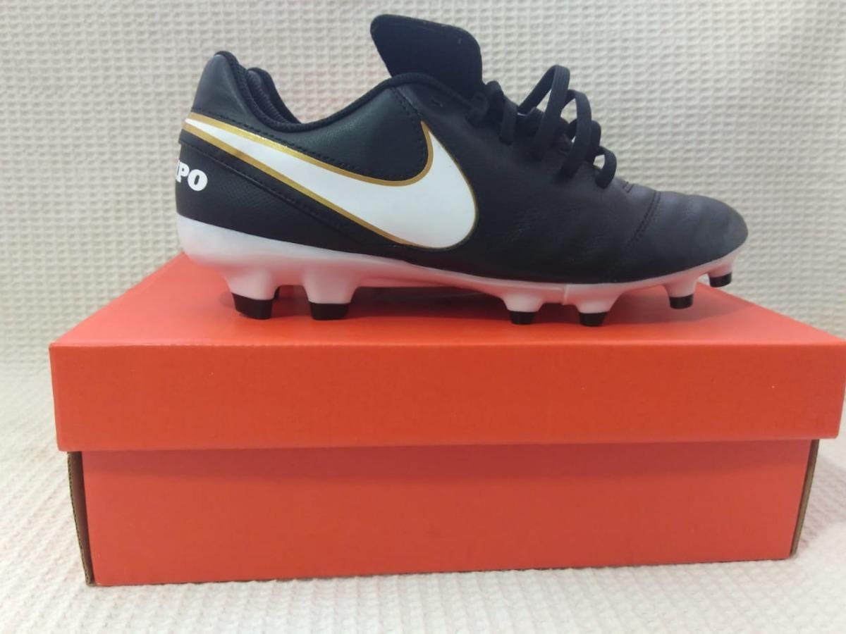fbdbe4e766135 Chuteira Original Nike Tiempo Genio Leather Ii Fg Couro - R  240