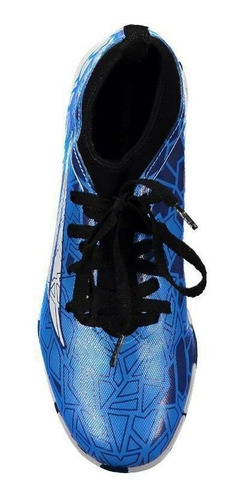chuteira penalty rx locker vii futsal juvenil azul