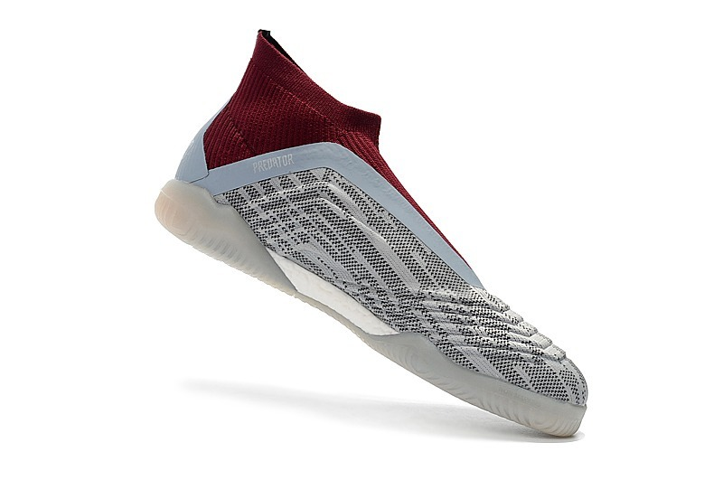 33bb21a5bf chuteira predator 18 futsal gray + red profissional. Carregando zoom.