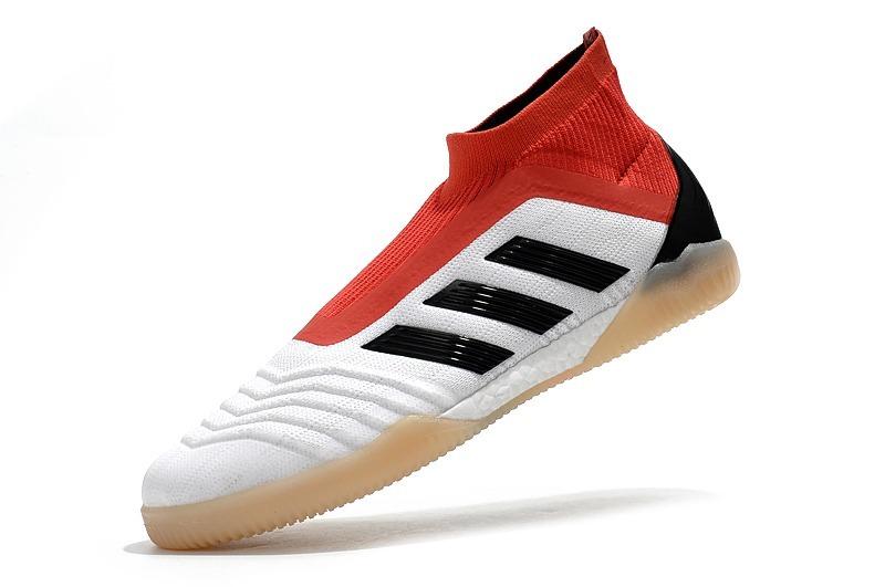 ad3a1c18b2 chuteira predator 18 futsal white+red profissional. Carregando zoom.