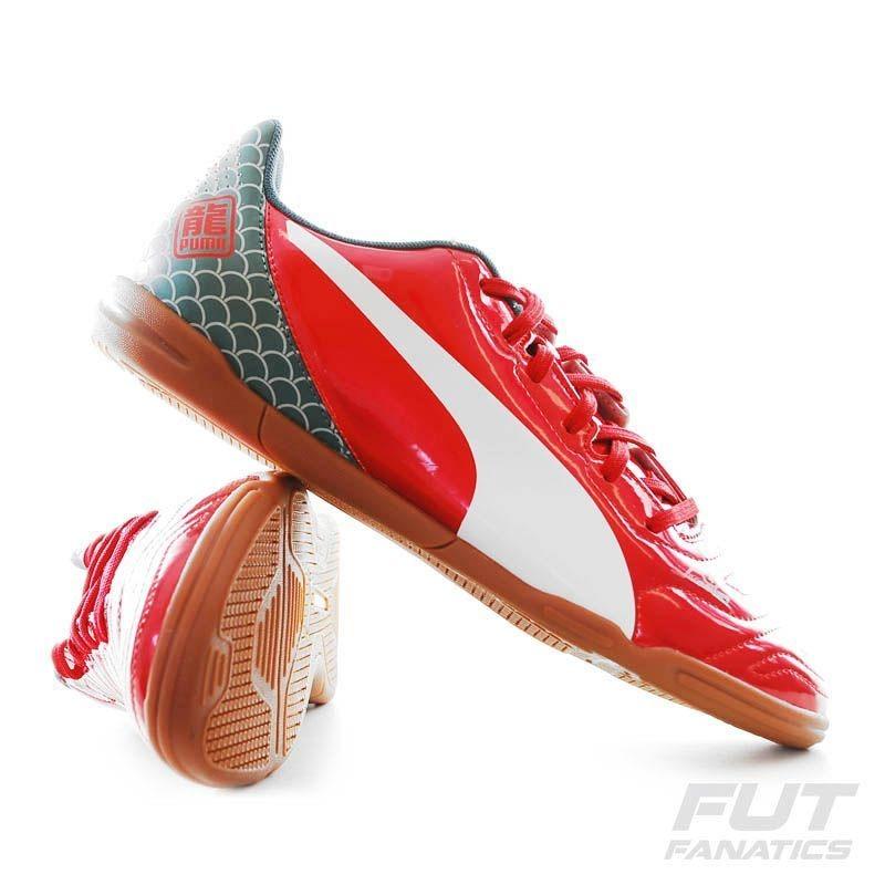 0a7fa1d77f6ce chuteira puma evopower 4.2 graphic it in futsal vermelha. Carregando zoom.
