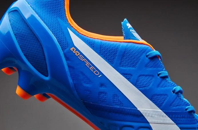 Chuteira Puma Evospeed 1.4 Fg Azul branco - R  650 8ed14e39c8c0c