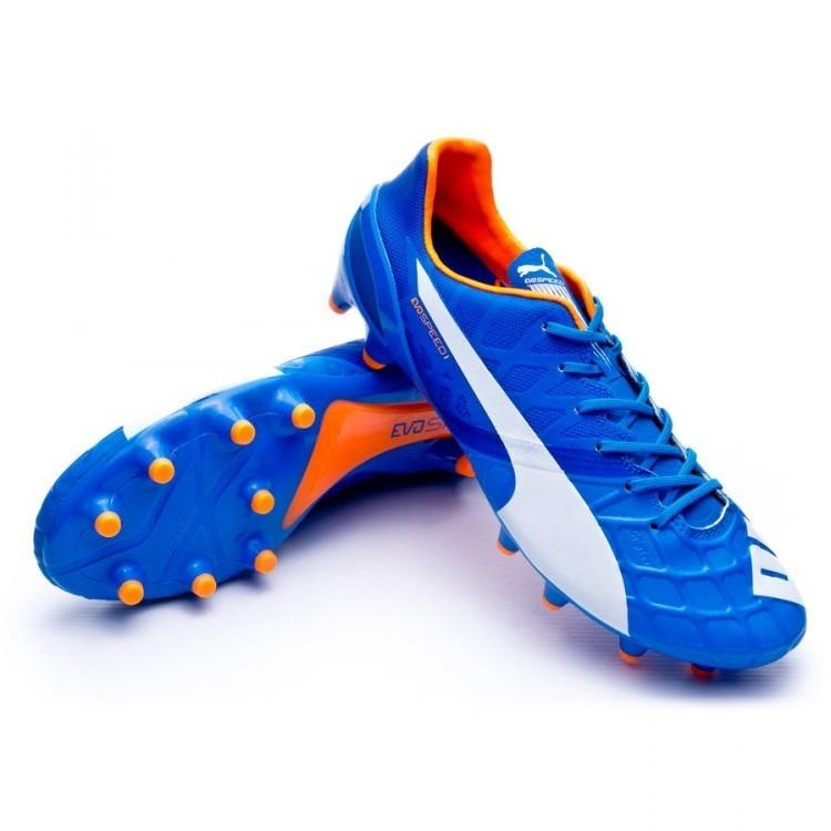 Chuteira Puma Evospeed 1.4 Fg Eletric Blue - R  599 02dc61e4f9194