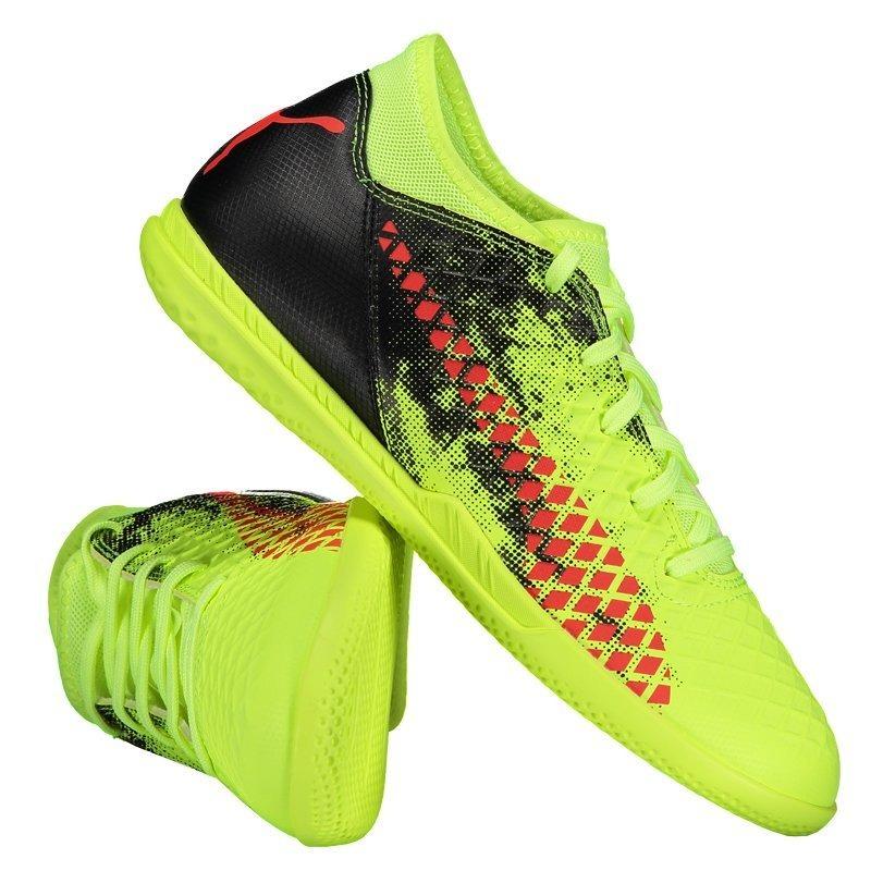chuteira puma future 18.4 it futsal juvenil amarela. Carregando zoom. b069c10fb1a76