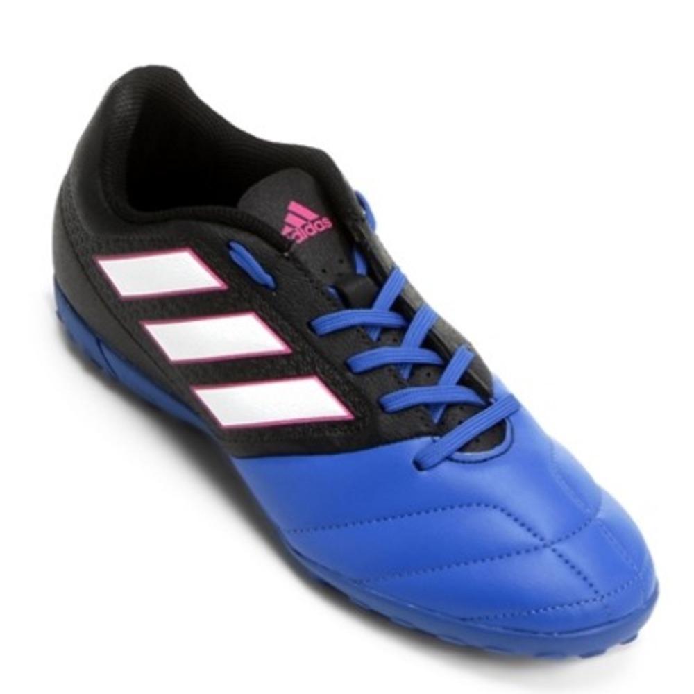 e338de495bd Chuteira Society adidas Ace 17.4 Masculino Azul E Preto - R  235