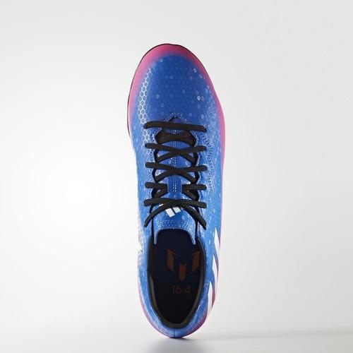chuteira society adidas messi 16.4 tf masculino - azul pink. Carregando  zoom... chuteira society adidas 385edc3be5571