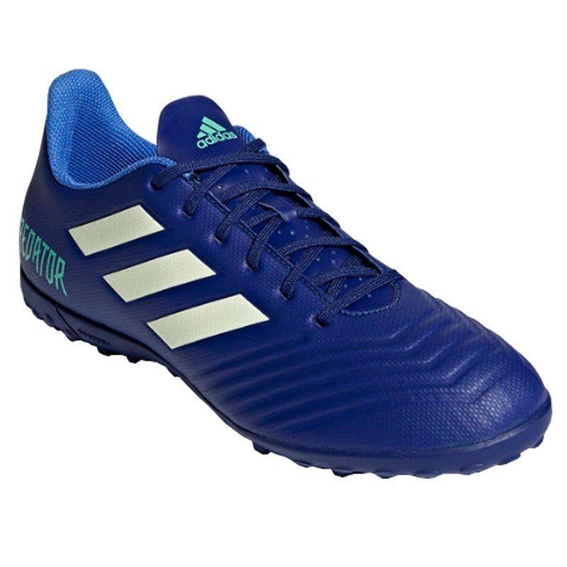 Chuteira Society adidas Predator 18.4 - Azul E Prata - R  259 1542302d13c0c