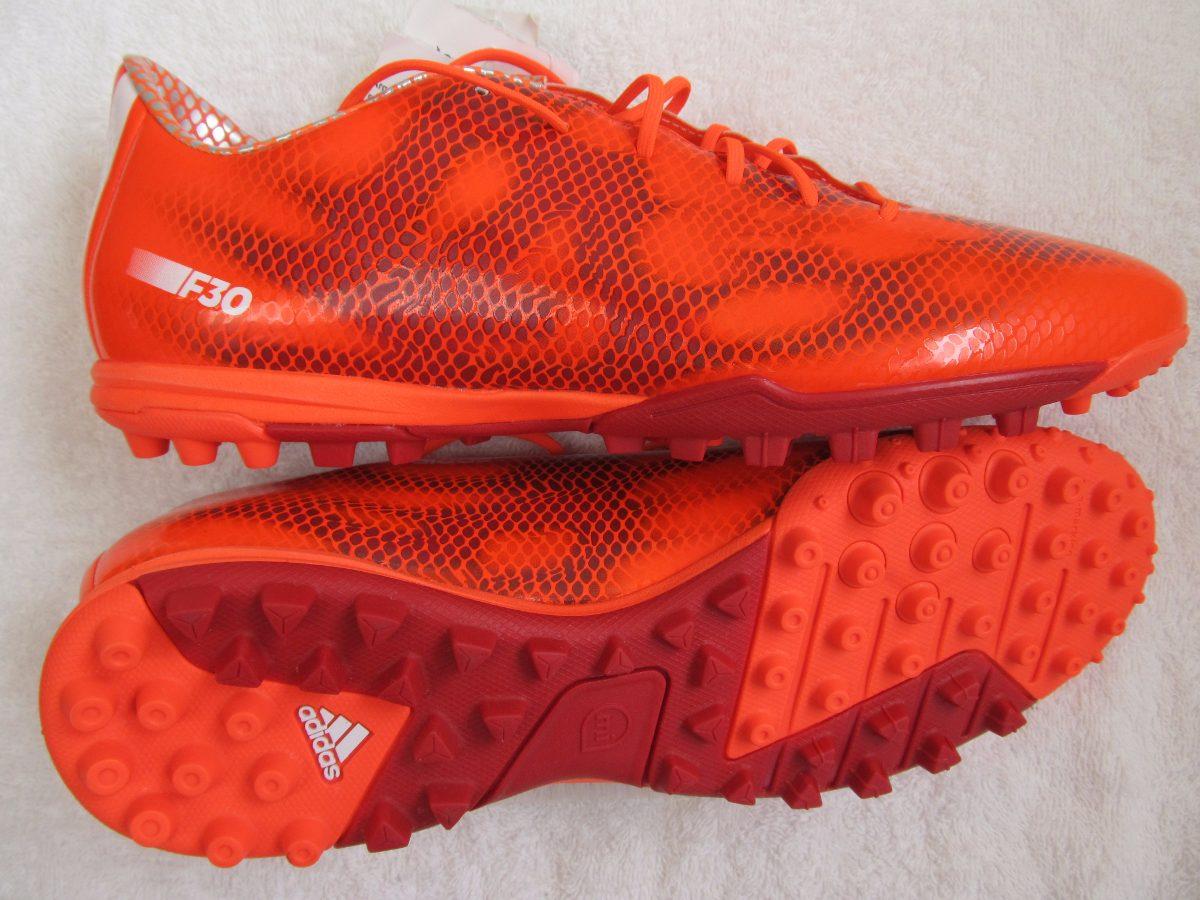 chuteira society adidas f30 tf vermelha - nova. Carregando zoom. bba5ed27dbbad