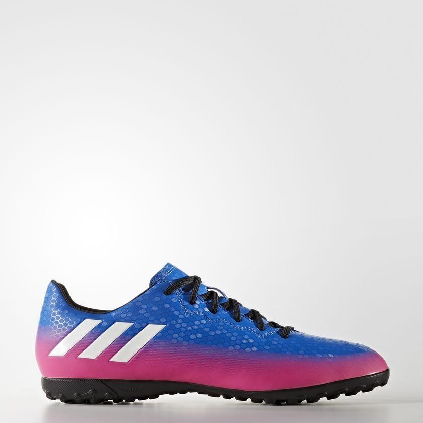 bca6336eecc chuteira society adidas messi 16.4 tf masculino - azul pink. Carregando zoom .