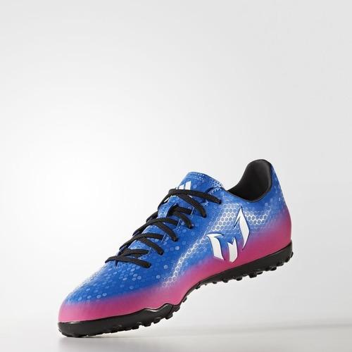 Chuteira Society adidas Messi 16.4 Tf Masculino - Azul pink - R  229 ... 25e04fe3b280a