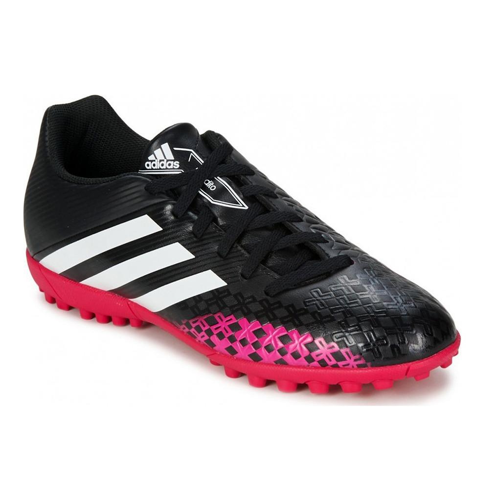 7137960e99 chuteira society adidas predito lz trx tf - preto e rosa. Carregando zoom.
