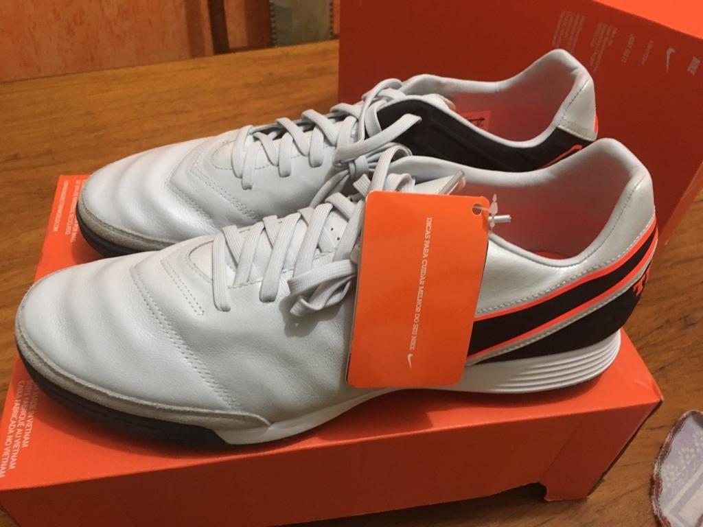 6d0286652115f Chuteira Society Nike Tiempo Mystic 5 Tf Original Nova Nº 45 - R ...